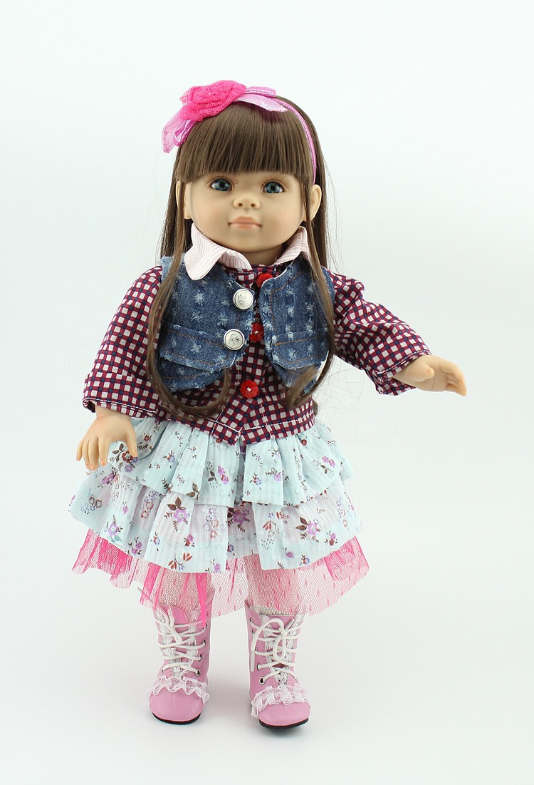 "18"" American Girl Baby Doll Lifelike Baby Doll with"