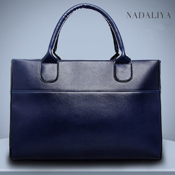 Alibaba top 10 products 2014 the most popular handbag leather handbag tote bag blank with good manufacturer