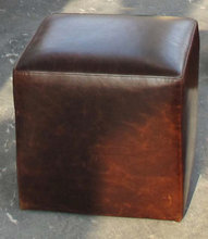 Living Room Matching Foot Stool Leather Ottoman