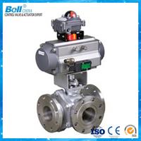 4 inch PVC PN16 pneumatic mechanical ball valve