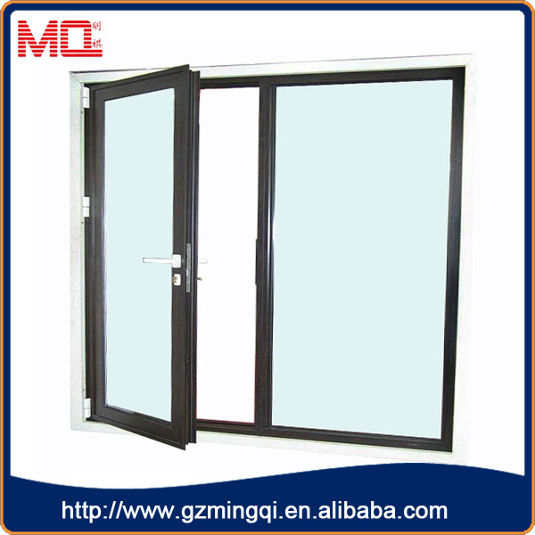 Cheap price commercial aluminum frame double front doors for Cheap front door and frame