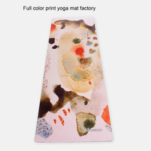 2015 OEM quality printed yoga mat , eco friendly natural rubber foldable yoga mat material factory price