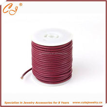 Wholesale pink leather cord silver heart charm fashion alloy adjustable bracelet knot, 10mm leather thread