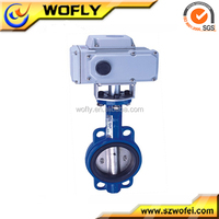full lug PTFE lined motor operated butterfly valve