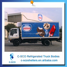 Customer OEM small refrigerated truck for sale