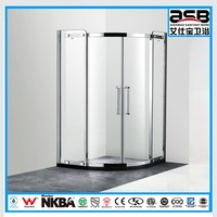 bathroom fireproof 6mm Tempered Glass shower low cost prefab cabin