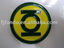 Green lantern 3D belt buckle in yellow and green