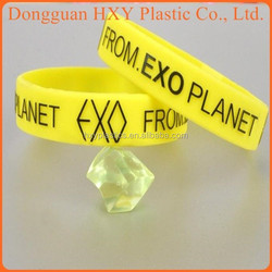 HXY Top grade silicone rubber band, custom make rubber band bracelet