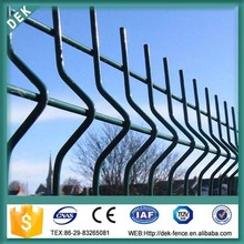 large dog pvc coated welded wire fence with 3 bends