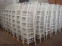 White Wooden Chiavari Chair or Silla Tiffany for sale and rental