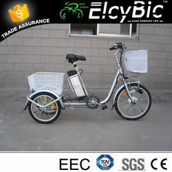 ELON high speed three wheel electric tricycle with steel frame(E-TDR03 )