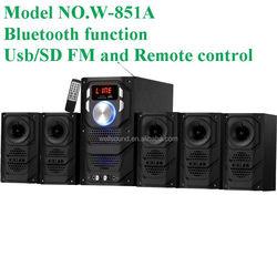 Sound bar speaker audio home theater system soundbar subwoofer karaoke system with USB/SD/FM/Led Display/Remote Control