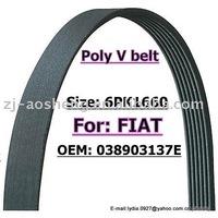 Rubber Poly V-ribbed belt / Multi-rib V belt/ 6PK1660