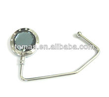 2012 promotional gift fashion design zinc alloy customized portable multiple lady hand bag holder