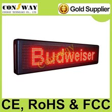 CE approved advertising led messages display with red color and size 104*24cm
