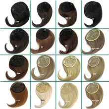 front hair bangs extension clip in hair bang heat resistance fibre synthetic hair fringe