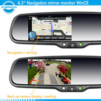 Gps navigation touch screen monitor with garmin bluetooth handfree car kit, rear camera display and OEM bracket