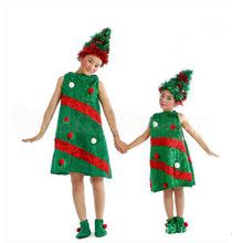 DJ-PZ-104 New green party children christmas tree clothes costume junpsuit drees