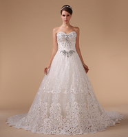 HM96081 new fashion 2015 brand name floor-length sweetheart neck Off-Shoulder beaded bodice wedding dress