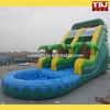 2015 hot sale design high quality popular inflatable water slide with pool