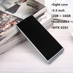 5.5''1GB ram MTK6592 eight core thinnest body cheap mobile phone