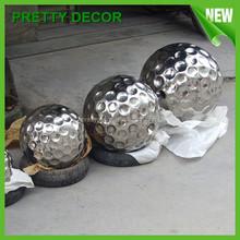 Large Metal Golf Ball Decoration Sculpture