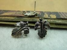13x17mm Antique Silver Lovely Mini leaf earring Charm Pendant c5664 charm