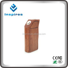 Inspires dual 18650 battery box mod wooden box mod wood mod box watt