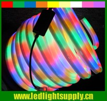 CE UL listed 5050 80SMD/M 110v RGB chasing led neon flex rope light China supplier