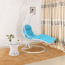 indoor bedroom swing rattan sunbed single seat swing chair