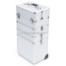 Mollycoddle 5in1 Hairdressing Makeup Beauty Nail Case Cosmetics Trolley Bag Box