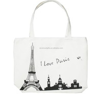 China supplier shopping online love paris tote bag