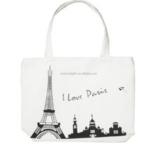 China supplier shopping online love paris tote bag