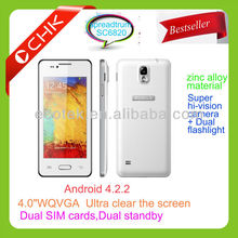 wvga touch screen mobile phone dual sim cheapest in china