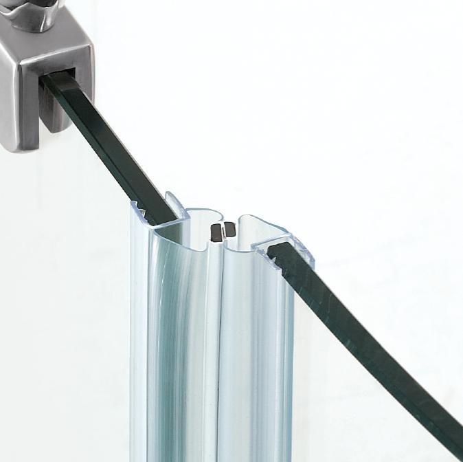 Shower Glass Door Hinges Side Magnetic Strip Pvc Bathroom Door Seal