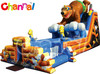 bear camp china inflatable slide/inflatable slide with obstacle