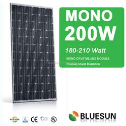 2015 China the best pv supplier solar panel mono 200 watt, 200w solar panel