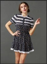 Fashion summer flora latest new design dresses for woman