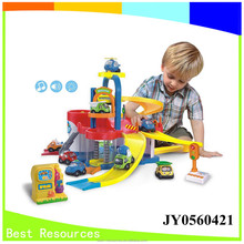 Toy parking lot parking space toy station car station toy