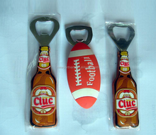 hot sales creative promotional gift PVC Soft Lining various shapes of bottle opener