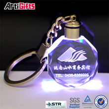 Best quality multi ring keychain with crystal