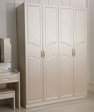 PVC Membrane Coated Small Wooden Almirah Discount Bedroom Furniture