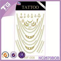 Jewel Tattoo Sticker,Iron Oxide,Mixed Gold Silver Tattoo Sticker.