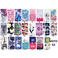 for MOTO G3 Case, for MOTO G3 Leather Case,Flip Leather Wallet Case Cover Pouch for Motorola MOTO G3