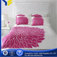 purple high quality stain silky feel jacquard girl bed sets