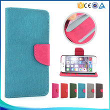 Top Quality Dual Colors Flip Pu Leather Case For sam s6 edge,Fashion Colour Wallet Case Cover For sam s6 edge