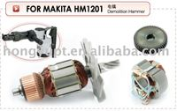 Industrial electric tools spares power tools spares armature rotor stator starter field coil gear Alternator for Makita HM1201
