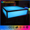 Squre/glowing/party/event cocktail table high top LED bar table