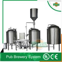 Wheat/fruit/ stout beer equipment, brewpub brewery beer system
