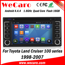 Wecaro WC-TU6229 android 4.4.4 navigation system for toyota land cruiser 1998 - 2007 3G wifi playstore